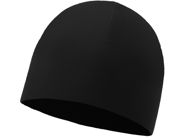Buff Microfiber Reversible Hat Solid Black
